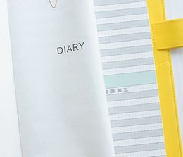 Wholesale Core Accounts - Wholesale- Color Calendar Plan Thickening Notebook Stationery Notepad Horizontal Lattice Appropriate Hobo Hand Account Core