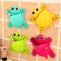 Wholesale Plastic Tool House - Sucker Toothbrush Holder Cute House Lizard Molding Multi Function Storage Rack Home Furnishing Shower Room Decorate 2 5ll J