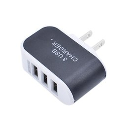 Wholesale Micro Usb Charger Wall Port - Newest 5V 3.1 A Triple 3 ports USB charger Wall Home Travel AC Charger Adapter For S6 Micro USB EU US Plug