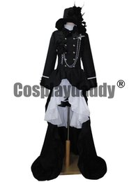 Wholesale Butler Outfit - Japanse Anime Outfit Black Butler Ciel Phantomhive cosplay costume