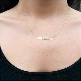 """Wholesale Wholesale Gold Chain For Sale - 2017 Hot sale """"Be Brave"""" Necklace Tiny Bar Necklace Arrow Necklace For women Birthday gift Christmas gift"""