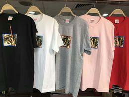 Wholesale Girls Gray T Shirts - new tide men t shirt fashion 2017 summer SUPREM box logo 17ss nude GIRL TEE T-shirt men cotton short-sleeved t-shirt women tee shirt homme