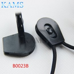 "Wholesale Cord Stoppers Wholesale - Wholesale- 20 pcs pack 1 8""(4mm) Drawstring Sliding Plastic Wheel Pull-Strings Pulley Cord Lock Ends Stopper Black"