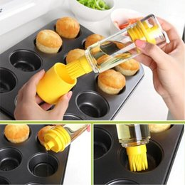 Wholesale Heat Resistant Coatings - Oil Control Brush Set Silicone Heat Resistant Durable Barbecue Brushes Kit Easy To Clean Prevent Liquid Waste Eco Friendly CCA7617 20pcs