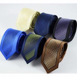 Wholesale Men Striped Neckties - GUSLESON New Slim Ties For Men High Quality Wedding Tie Dot Striped Necktie Corbatas Hombre Cravate Men's ties For Business