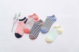 Wholesale Cute Socks Price - FUJI 2017 New Arrival Autumn Cute Colorful Striped Cotton Womens Boat Socks Cheap Price Free Shipping