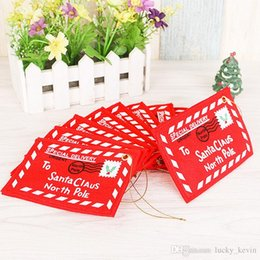 Wholesale Candy Weave - 2017 Christmas decorations Christmas tree widget Christmas non-woven envelope The bag can put candy Xmas CARDS free shipping