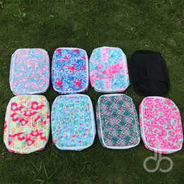 """Wholesale Wholesale Insulated Food Bags - Lilly Floral Food Carrier Wholesale Blanks 10""""*15.5""""*3"""" Crown Insulated Cooler Bags Rose Casserole Carriers Box in 9 Colors DOM106607"""