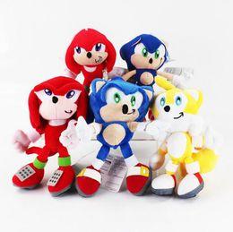 Wholesale Sonic Doll - Sonic the Hedgehog Plush Dolls 20cm Kawaii Kids Stuffed Toys Knuckles Tails Stuffed Plush Soft Doll OOA2836