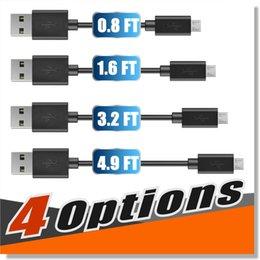 Premium Yüksek 2000 mAh Hız Mikro USB Kablosu C Tipi kablolar 4 uzunlukları 0.25 M 0.5 M 1 M 1.5 M Sync Hızlı şarj USB 2.0 Android akıllı telefon için nereden mini usb telefonu tedarikçiler