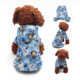Wholesale Pet Dog Rain Coat Hoodie - Pet Dog Hoodie Hooded Rain Coat Clothes Dogs Puppy Casual Waterproof Jacket Hot