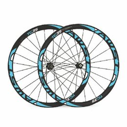 Wholesale Cycling Road Wheels Carbon - AWST 38mm full carbon clincher bike wheels 23mm width road bike wheels 700C baslat surface 303 cycling carbon wheels set free shipping
