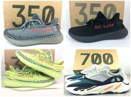 Wholesale Colors Shoes Lace - 2017 New 700 Boost Wave Runner Running Shoes Mix 350 V2 10-Colors With Box Yebra,Blue Tint,Red Night,Beluga Size 36-48