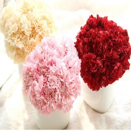 Wholesale Wedding Bouquet Silk Carnations - Wholesale Artificial Flowers Silk Fower 6 Branches Artificial Flower Carnation Bouquet For Mother's Day Gift DIY Wedding Home Decoration