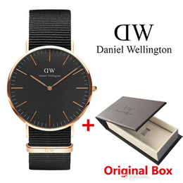 Wholesale Brand New Style Dress Women - 2017 top luxury brand women men watches fashion nylon style 36 40mm ROSE GOLD mens leather watches montre femme relojes with box