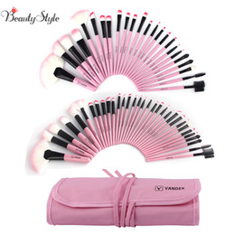 professional makeup brush 32pcs pink Promo Codes - Vander Professional 24 32pcs Pink Makeup Brush Brushes Set Kit Tools Pinceis Cosmetic Eyeliner Lip Foundation Powder Soft W  Bag