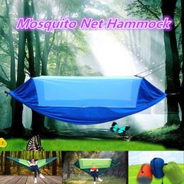 2019 cores hammock atacado Rede Dupla portátil Com Mosquiteiro Camping Sobrevivência Rede Mosquiteiro Hammock Parachute Pano Hammock Para Camping 270 * 145 CM