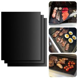 Wholesale heating charcoal - BBQ Grill Mat No Stick Barbecue Cover 33*40cm Outdoor Pad Sheet Tools Cooking Tool 2000pcs OOA1935