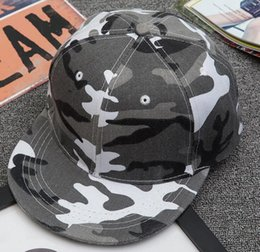 Wholesale Street Board - Snapback 2016 Outdoor camouflage military training cap lady light board street hip-hop hat baseball hat