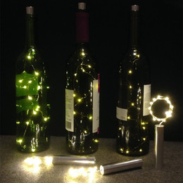 Wholesale Lights For Centerpieces - 15 LED Starry String Lights AA Battery Wine Bottle Lights with Cork for Bedroom Party Table Decor Christmas Halloween Wedding Centerpieces