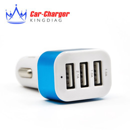 carro usb carregador preto 1a Desconto Venda por atacado- Triplo Universal USB Car Charger 3 Port Car-carregador Adapter Socket 2A 2.1A 1A Car Styling Carregador USB Para Car-Styling