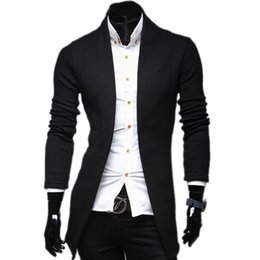 Wholesale Thin Outerwear Sweater - New Brand Brief V-neck Fashion Mens Sweaters Cardigan Knitted Slim fit Casual Outerwear Man Clothing 3 Color M-XXL