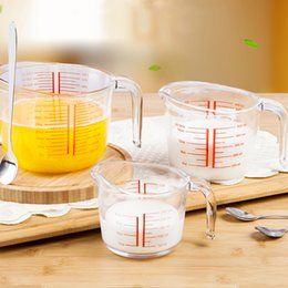 Wholesale Heat Measures - Hot Sale Heat-Resisting Glass Tempered Glass measuring cup Transparent Household Microwave Oven Special Milk cup Kitchen Accessories