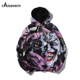 Wholesale Hoodies Joker - Wholesale- Raisevern New Funny The Joker 3D Hoodie Fashion Design Full Printing Sweatshirt Long Sleeve Harajuku Tops Plus Size 5XL Dropship