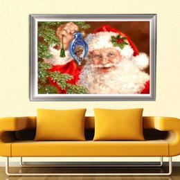 2019 pintura del diamante la navidad YGS-381 DIY 5D Parcialmente Diamante Bordar El Padre de Navidad Ronda Pintura Diamante Kits de punto de Cruz Diamond Mosaico Decoración pintura del diamante la navidad baratos