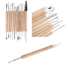 Wholesale Paint For Pottery - 22pc Clay Pottery Sculpture Tool Stainless Steel and Wooden Handle Mini Pottery Ceramic Tools Set for Paint Sculpture