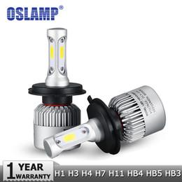 Wholesale H13 Hi Lo - H4 H7 H11 H1 H13 H3 9004 9005 9006 9007 COB LED Car Headlight Bulb Hi-Lo Beam 72W 8000LM 6500K Auto Headlamp