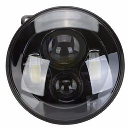 "Wholesale Motorcycle Hid Projector Headlights - 1PC 7"" LED Headlight For Car Motorcycle Projector HID LED Light Bulb Headlamp Black"