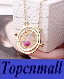 Wholesale Harry Potter Rotating Time Turner - Party Supplies High quality Harry Potter Hermione Granger Rotating Time Turner Necklace Gold Hourglass Necklace