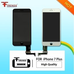 Wholesale Iphone Oem Assembly - OEM High Quality A+++ for iPhone 7 Plus LCD Display and Touch Screen Digitizer Cold Frame Assembly White Black