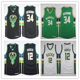 Wholesale Baseball Brother - green bucks basketball jerseys 34 words brother 12 parker jerseys free shipping bucks jerseys on discount