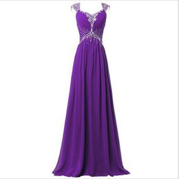 Wholesale Cocktail Party Gown Wholesale - Round collar Sleeveless evening dress Slim long purple black blue red cocktail dress costume party wed040