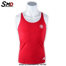 Wholesale Royal Blue Vest L - Wholesale- 2016 high-quality Hot Sale Men's Fitness Vest bodybuilding Vest Red Royal Blue Size Slim Fitted Tank Top M L XL