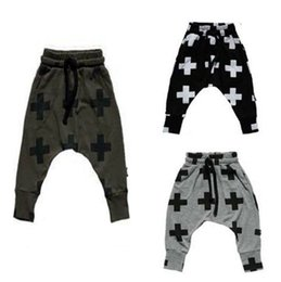 Wholesale Hip Hop Clothing For Girls - new Girls Boy Toddler Child Fashion Boys Pants trousers leggings Cross Star hip hop Children Harem Pants For Trousers Baby Clothes