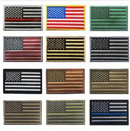 Marines bandiere online-60 pz Tattico americano USA Thin linea blu forze dell'ordine Texas Lonely Star Marine Corps Usmc Nero Ops Bandiera Ricamata Patch