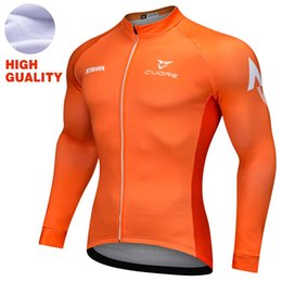 Wholesale Cycling Team Winter Jacket - Strava Winter thermal fleece cycling jersey Pro Team MEN MTB bicycle Racing clothhing Jacket sport wear clothes ropa maillot ciclismo Orange