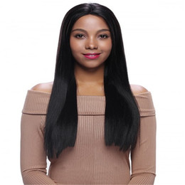 Wholesale Senior Woman Size - beautiful color black Full Lace Human Hair Wig Senior silk Long Wavy Full Lace Wigs Brazilian Virgin Hair 100% With Bangs For women Color 1#
