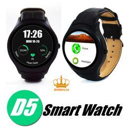 Wholesale Smartwatch Dual Sim - 2016 Original NO.1 D5 Smartwatch 3G WIFI GPS Android 4.4 CPU MTK6572 4GB ROM 4GB dual core SIM Bluetooth Heart Rate