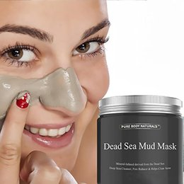 Wholesale Acne Treatment Face - 2017 New Dead Sea Mud Mask Deep Cleaning Hydrating Acne Blemish Black Mask Clearing Lightening Moisturizer Nourishing Pore Face Cleaner