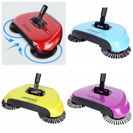 Wholesale Hand Vacuum Clean - Magic Broom Hand Push Sweeper Sweeping Machine Without Electricity Vacuum Cleaner Floor Home Cleaning Dustpan Set Broom Mop SF06