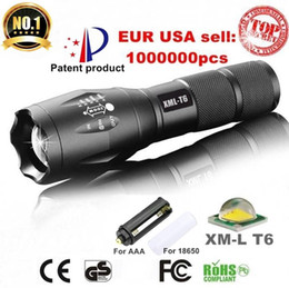 Wholesale Low Power Led Lights - 2017 CREE XML T6 4000Lumens 5 model High Power LED Torches Zoomable Tactical LED Flashlights torch light for 3xAAA or 1x18650 battery