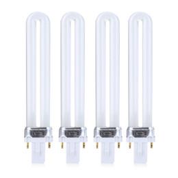 Wholesale Led 9w Nail Bulb - 4pcs LED Light Bulb Professional 4pcs 9W LED Nail Dryer UV Lamp Environmental Protection Manicure Light Bulb for Nail Dryer +B