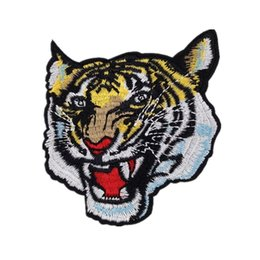 Wholesale Wholesale Custom Decals - New tiger embroidery cloth paste custom decals stickers embroidery cloth sewing patch DIY clothes stickers Bag hat decoration