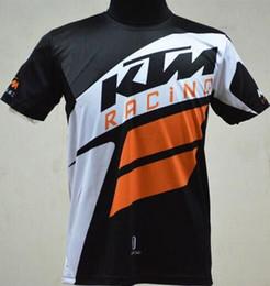 Wholesale Bikers T Shirts - 2017 High quality moto gp motorcycle shirt T-shirt KTM jersey shirt biker Breathable Quick-dry shirt road T-shirt biker