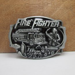 Wholesale fire belts - BuckleHome Fashion fire fighter belt buckle with pewter finish plating FP-02235 free shipping