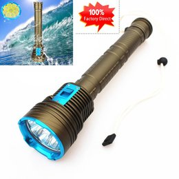 Wholesale Dhl Lantern - Free DHL 30000 Lumen CREE XML 9x L2 LED Underwater Waterproof LED 90W 3-Mode dive Diving Flashlight Torch 200M Flash Light Lamp Lantern
